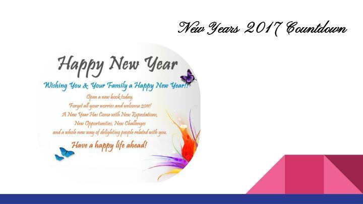 New Years 2017 Countdown