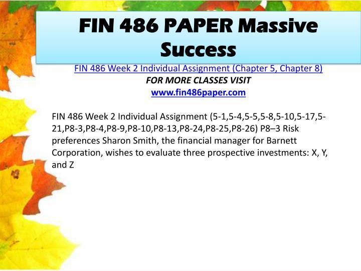 FIN 486 PAPER Massive Success