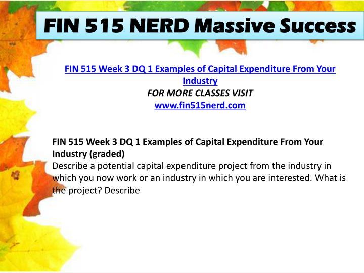 FIN 515 NERD Massive Success
