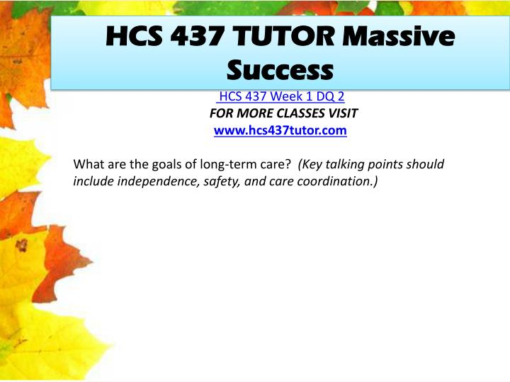 HCS 437 TUTOR Massive Success