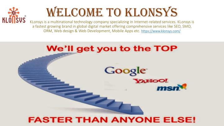 Welcome to Klonsys