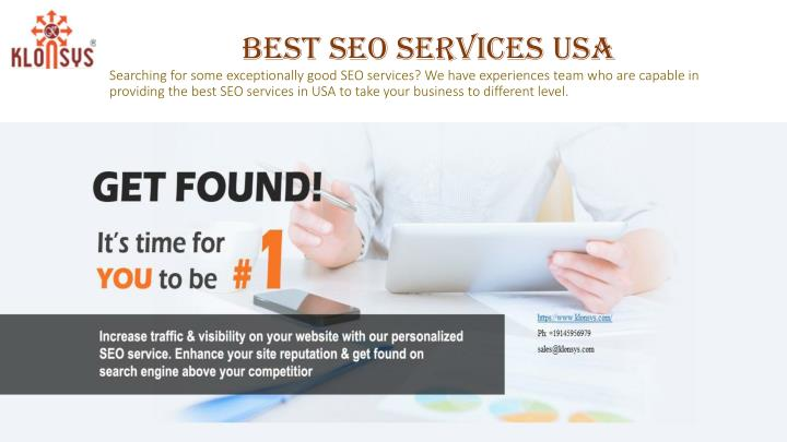 Best SEO Services USA