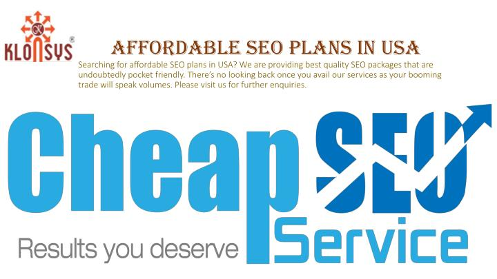 Affordable SEO Plans in USA