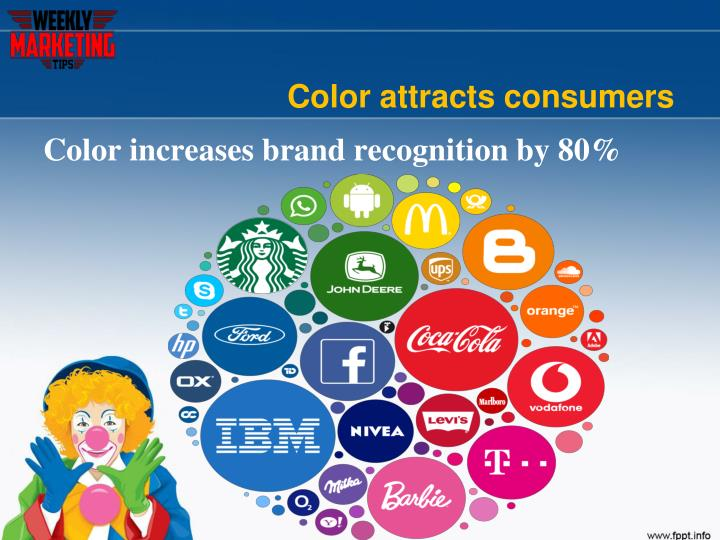 Color attracts consumers