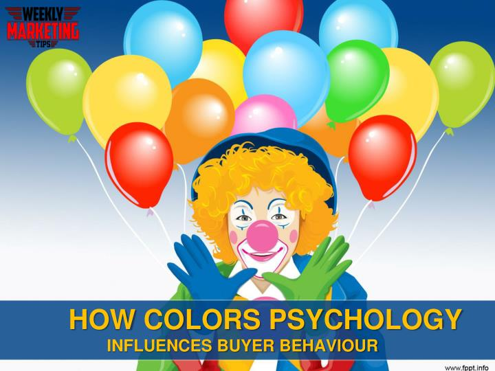 How colors psychology influences buyer behaviour