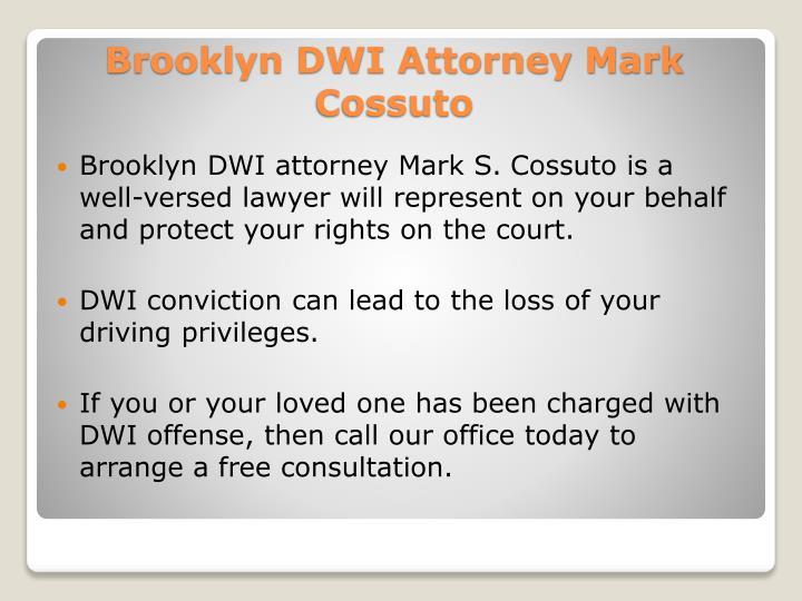 Brooklyn DWI attorney Mark S.