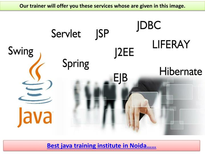Our trainer will offer you these services whose are given in this image.