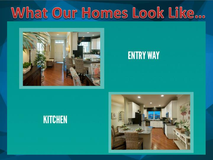 What Our Homes Look Like…