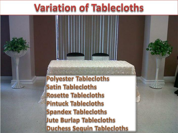 Variation of Tablecloths