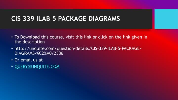 Cis 339 ilab 5 package diagrams1