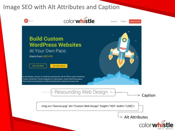 Image SEO with Alt Attributes and Caption