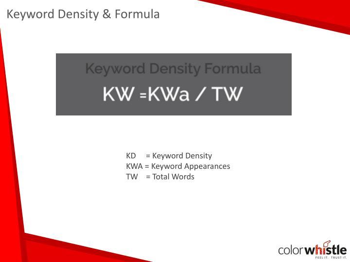 Keyword Density & Formula