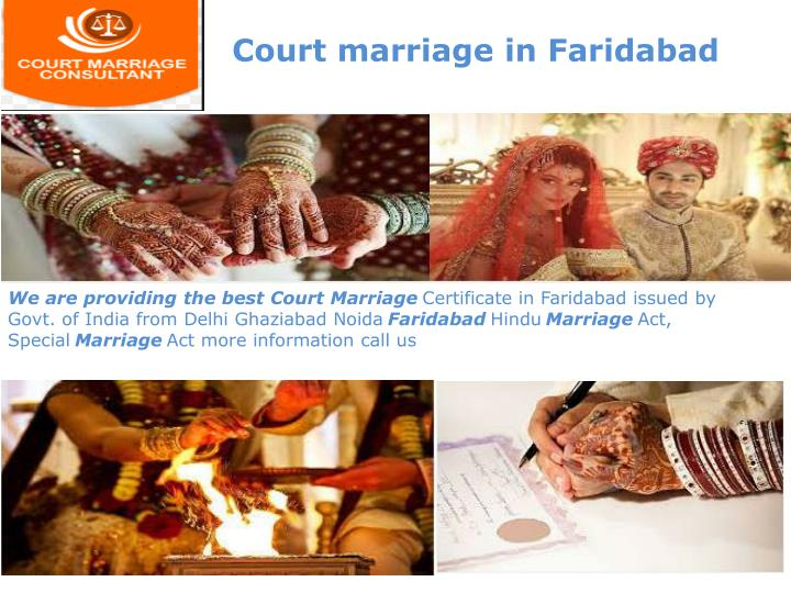 Court marriage in Faridabad