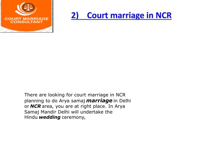 2)    Court marriage in NCR