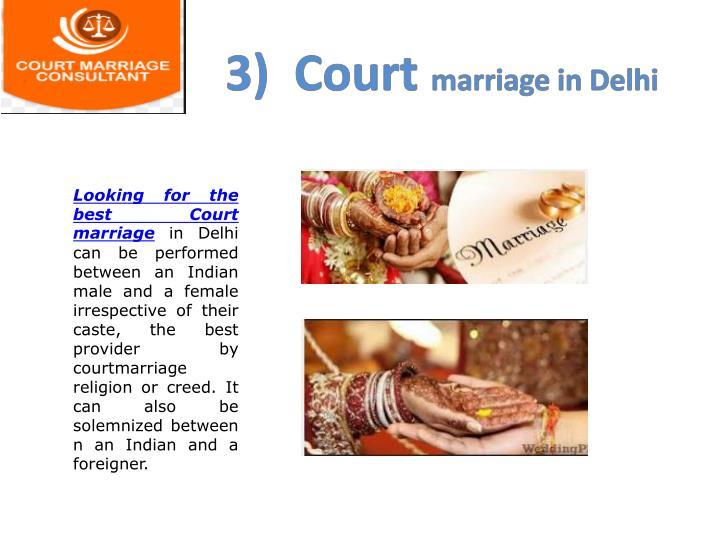 3)  Court