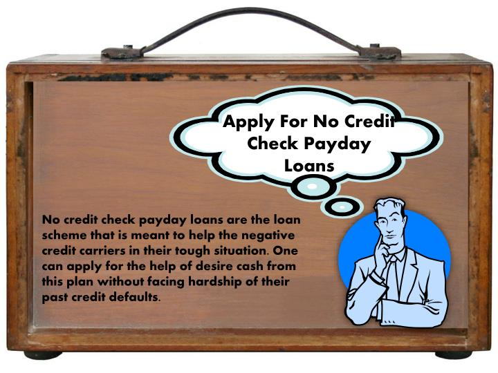 Apply For No Credit Check Payday Loans