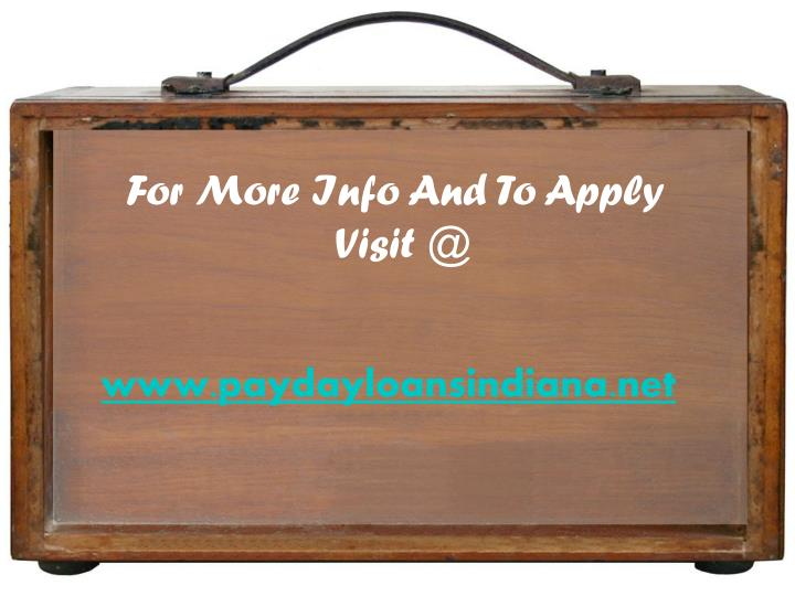 For More Info And To Apply