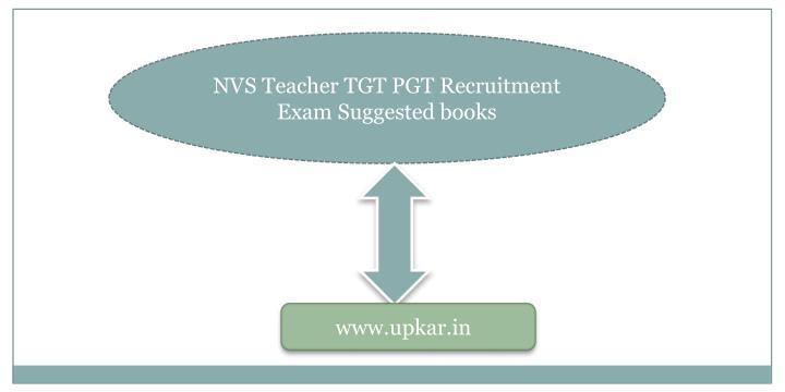 NVS Teacher TGT PGT Recruitment