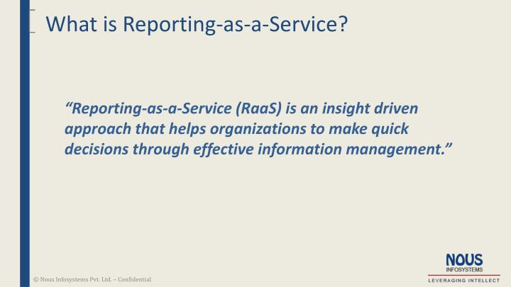 What is Reporting-as-a-Service?