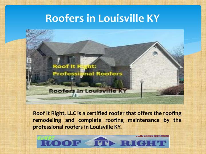 Roofers in Louisville KY