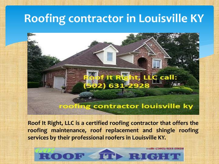 Roofing contractor in louisville ky