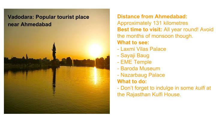 Distance from Ahmedabad: