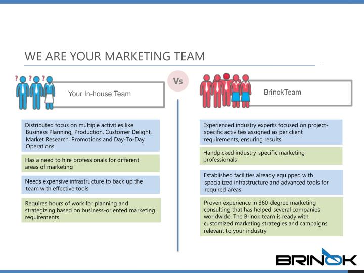 WE ARE YOUR MARKETING TEAM