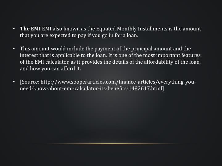 The EMI