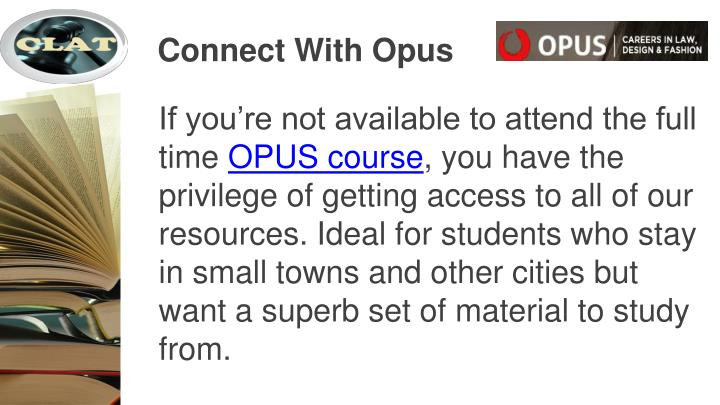 Connect With Opus