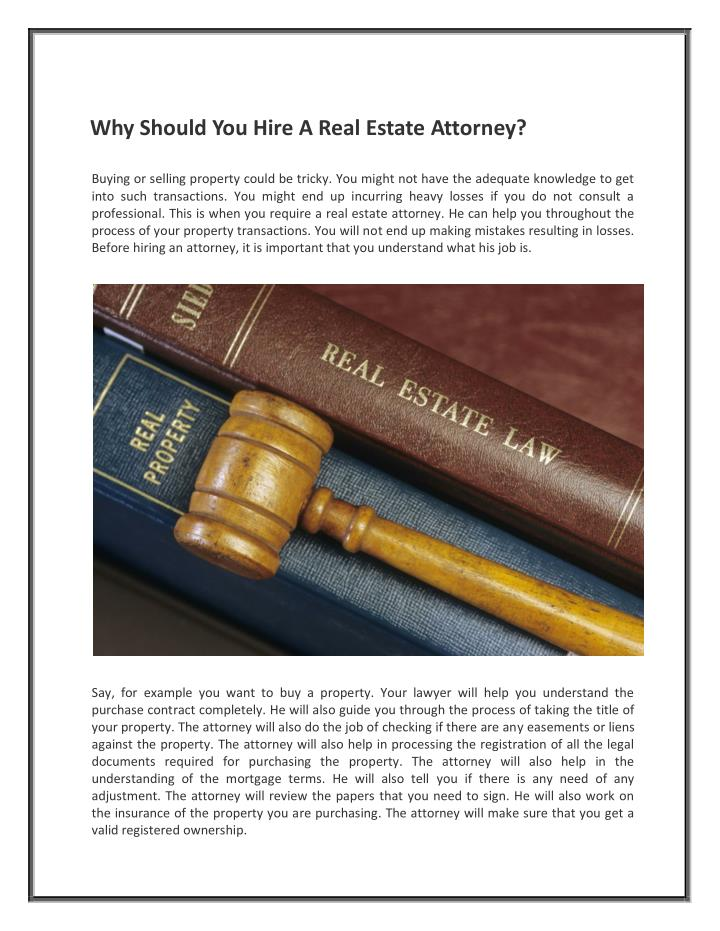Why Should You Hire A Real Estate Attorney?