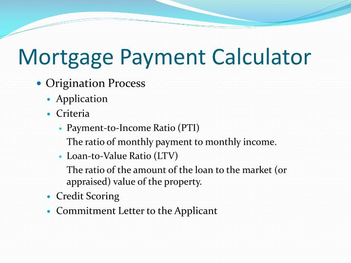 Mortgage Payment Calculator