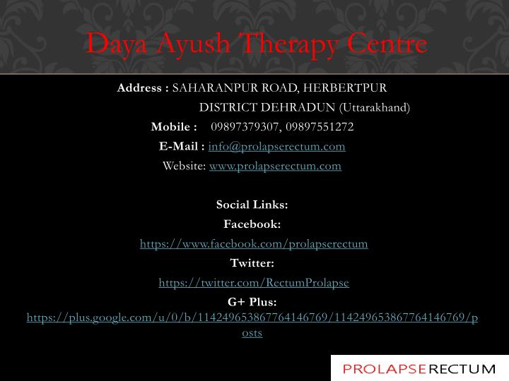 Daya Ayush Therapy Centre