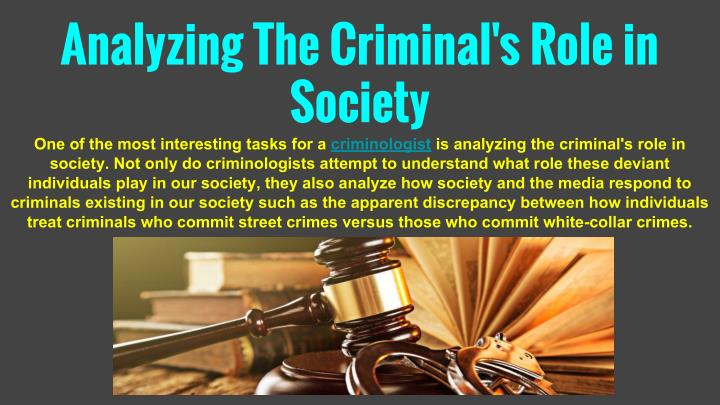 Analyzing The Criminal's Role in