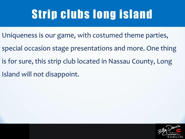 Strip clubs long island