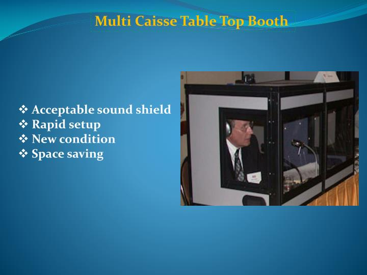 Multi Caisse Table Top Booth