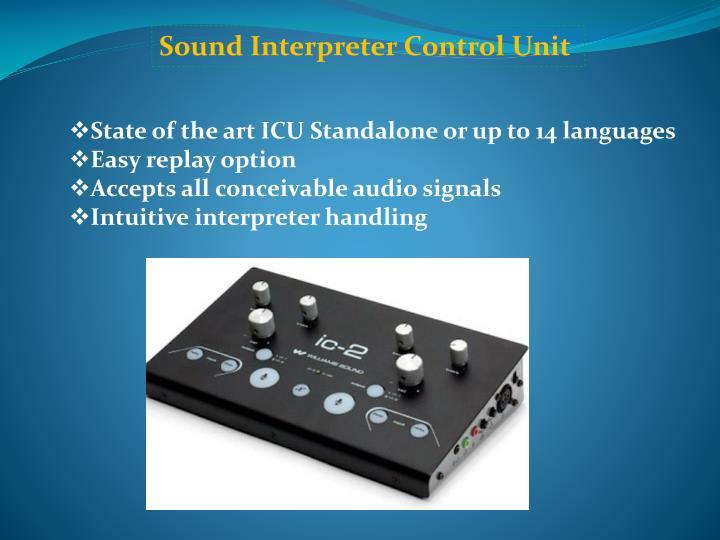 Sound Interpreter Control