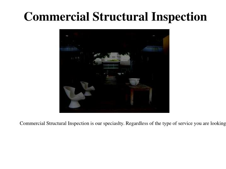 Commercial Structural Inspection