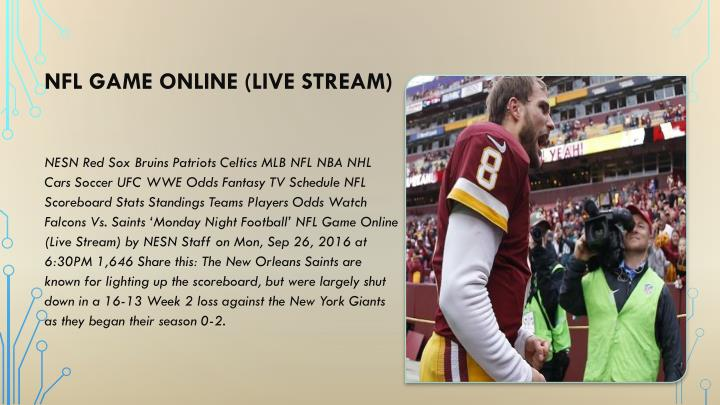 NFL Game Online (Live Stream)