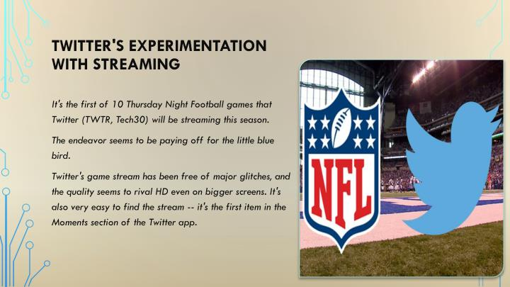 Twitter's experimentation with streaming