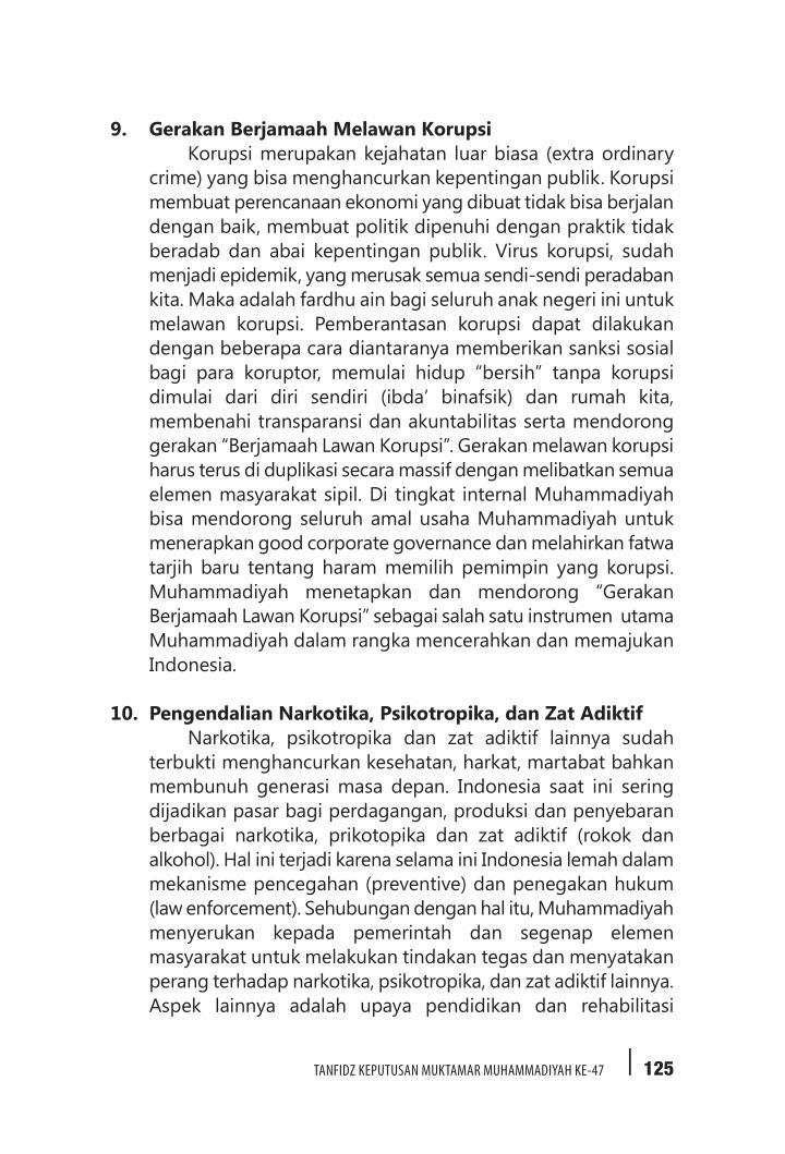 9. Gerakan Berjamaah Melawan Korupsi