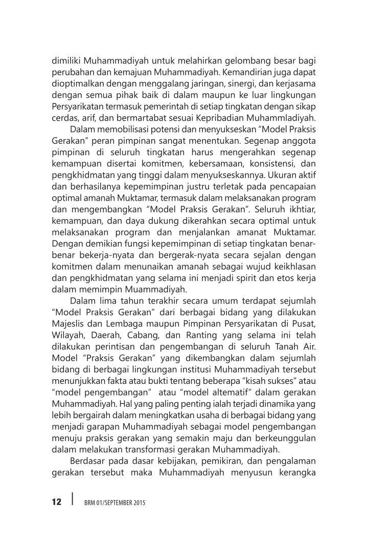 dimiliki Muhammadiyah untuk melahirkan gelombang besar bagi