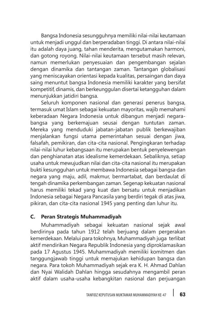 Bangsa Indonesia sesungguhnya memiliki nilai-nilai keutamaan