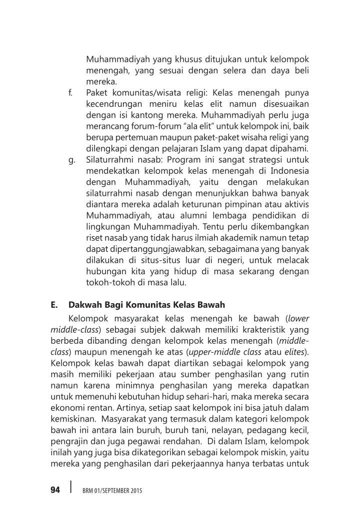 Muhammadiyah yang khusus ditujukan untuk kelompok
