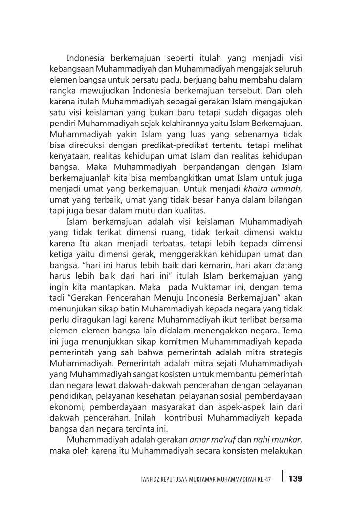 Indonesia berkemajuan seperti itulah yang menjadi visi