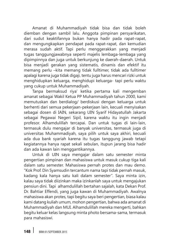 Amanat di Muhammadiyah tidak bisa dan tidak boleh