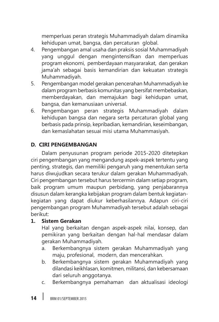 memperluas peran strategis Muhammadiyah dalam dinamika