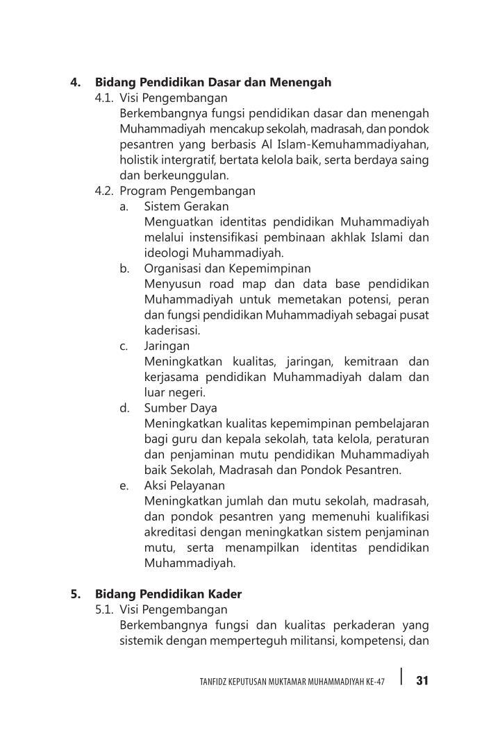 4. Bidang Pendidikan Dasar dan Menengah