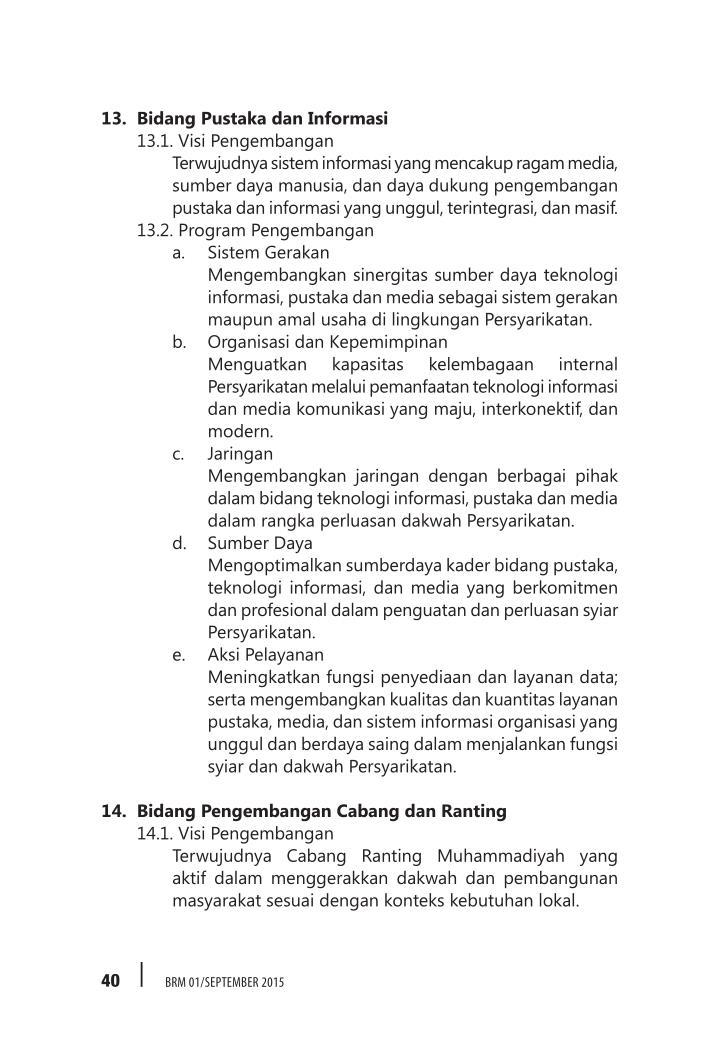 13. Bidang Pustaka dan Informasi