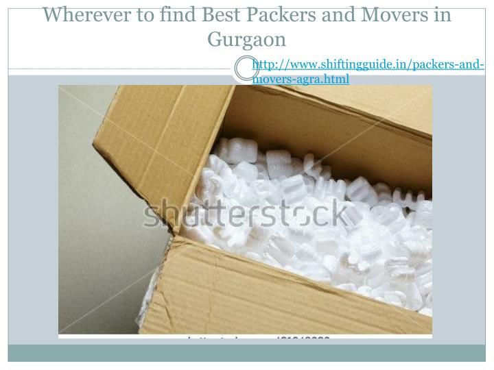 Wherever to find Best Packers and Movers in