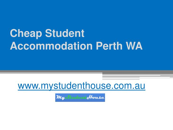 Cheap student accommodation perth wa